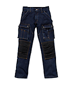 EB229 : DENIM MULTI POCKET TECH PANT