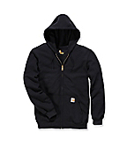 K122:MIDWEIGHT HOODED ZIP FRONT SWEATSHIRT