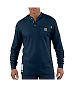 Men's  Flame-Resistant Long-Sleeve Henley