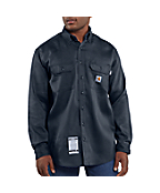 Men's Flame-Resistant Work-Dry&reg Lightweight Twill Shirt