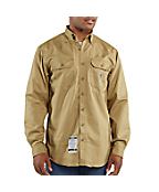 Men'PFlame-Resistant Twill Shirt with Pocket Flap