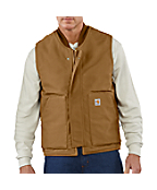 Men's Flame-Resistant Duck Vest/Quilt Lined