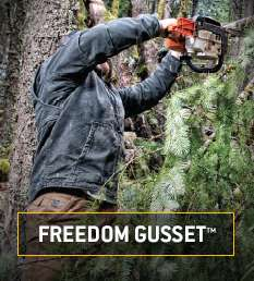 freedom gusset. stretch panels under the arms for ease of movement
