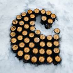 Carhartt C made of Guinness beer cans
