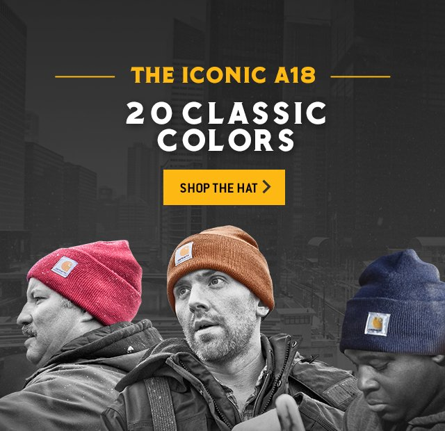 The Iconic A18, 20 Classic Colors, Shop The Hat