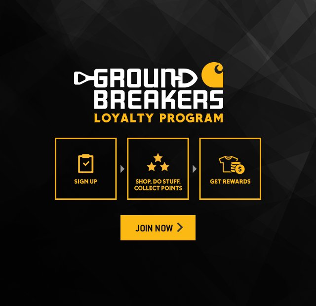 ground breakers loyalty program, Sign up, shop, Do stuff, Collect points, get rewards, join now