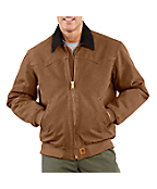 Men's Sandstone Santa Fe Jacket/Quilted-Flannel Lined