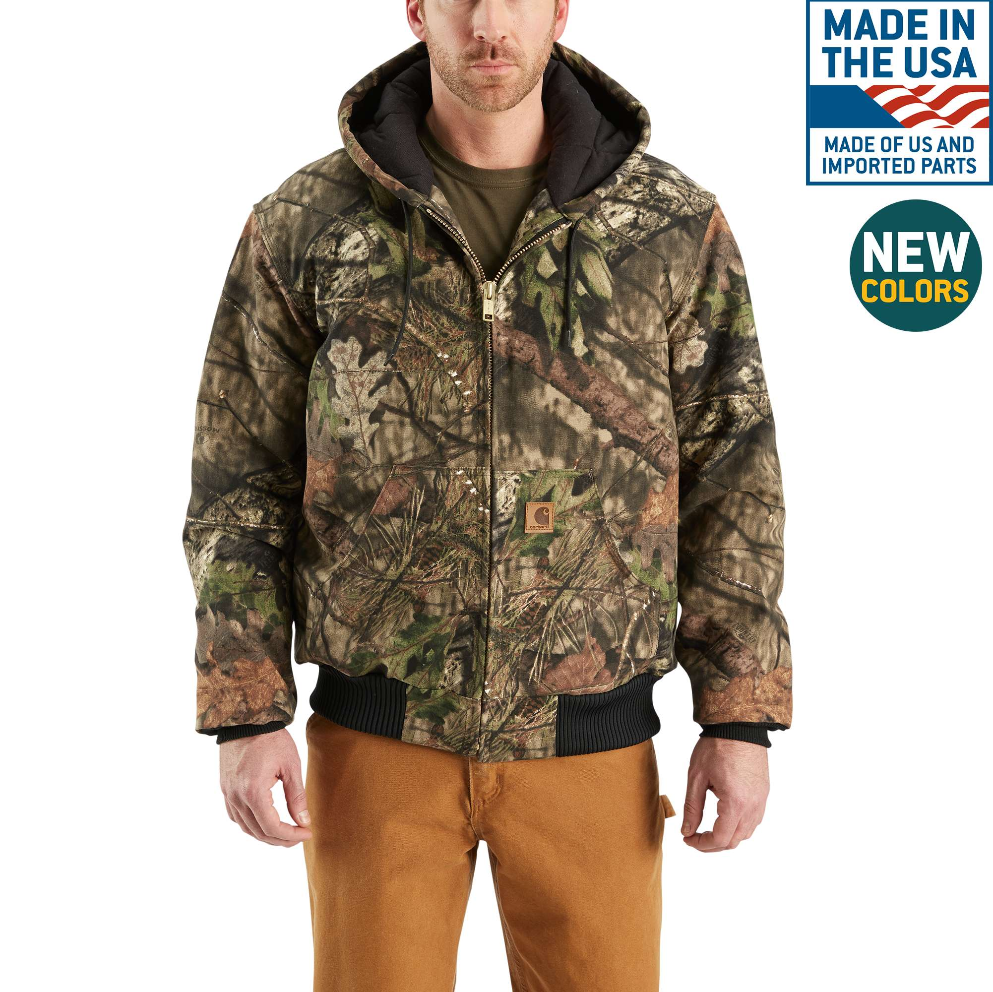 Carhartt Camo Quilted Flannel-Lined Active Jac