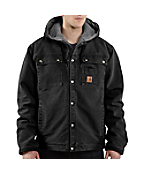 Men's Sandstone Hooded Multi-Pocket Jacket/Sherpa Lined