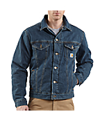 Men's Denim Jean Jacket/Sherpa Lined