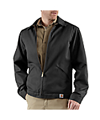 Men's Twill Work Jacket/Midweight Quilt Lined