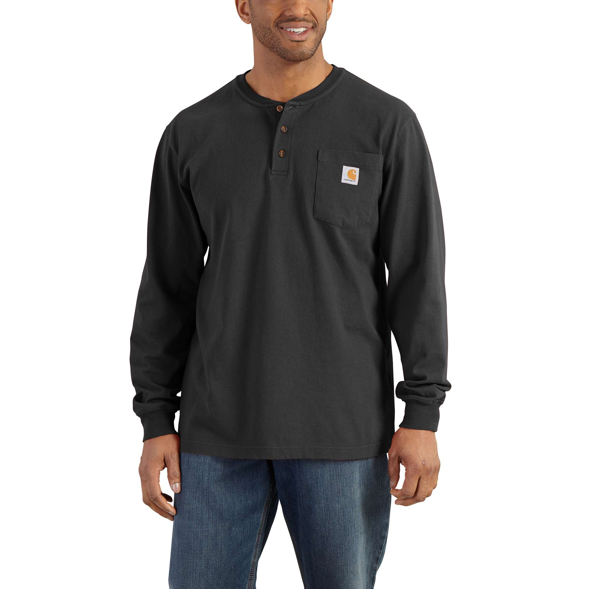 Workwear Long-Sleeve Henley T-Shirt
