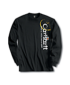 Men's Long Sleeve Distressed Logo T-Shirt