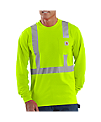 Men's   High-Visibility Class 2 Long Sleeve Work-Dry T-Shirt