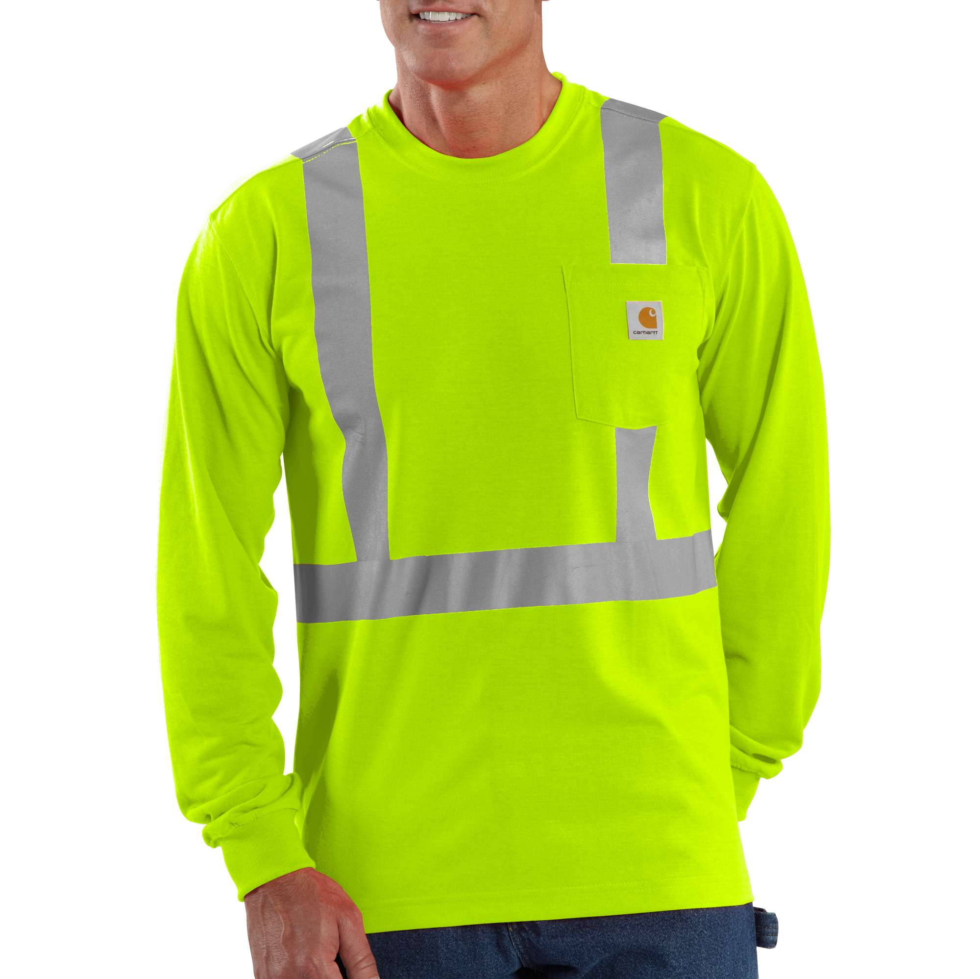 photo: Carhartt High-Visibility Class 2 Long Sleeve Work-Dry T-Shirt