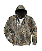 Midweight Realtree Xtra® Camo Hooded Zip-Front Sweatshirt