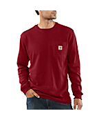 Men's Lightweight Long-Sleeve Pocket T-Shirt