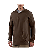 Men's Textured-Knit Zip Mock Shirt