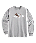 Men's Elk Graphic Long-Sleeve T-Shirt