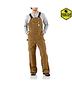 Men'PDuck Zip-To-Thigh Bib Overall/Unlined