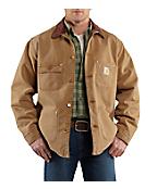 Men's Weathered Duck Chore Coat/Blanket-Lined