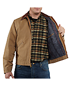 Men's Weathered Duck Detroit Jacket/Blanket-Lined