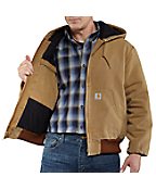 Men's Weathered Duck Active Jac/Quilted-Flannel Lined