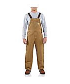 Men's Weathered Duck Bib Overalls/Unlined