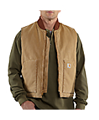 Men's Weathered Duck Vest/Arctic Quilt-Lined