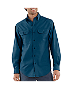 Men's Long-Sleeve Chambray Shirt