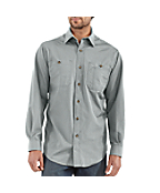 Men's Long-Sleeve Canvas Tradesmen Shirt