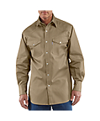 Men's Snap-Front Twill Work Shirt