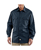 Long-Sleeve Twill Work Shirt