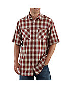 Men's Short-Sleeve Lightweight Plaid Shirt