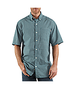 Men's Lightweight Plaid Short-Sleeve Button-Down Shirt