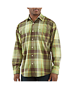 Lightweight Plaid Casual Long-Sleeve Shirt