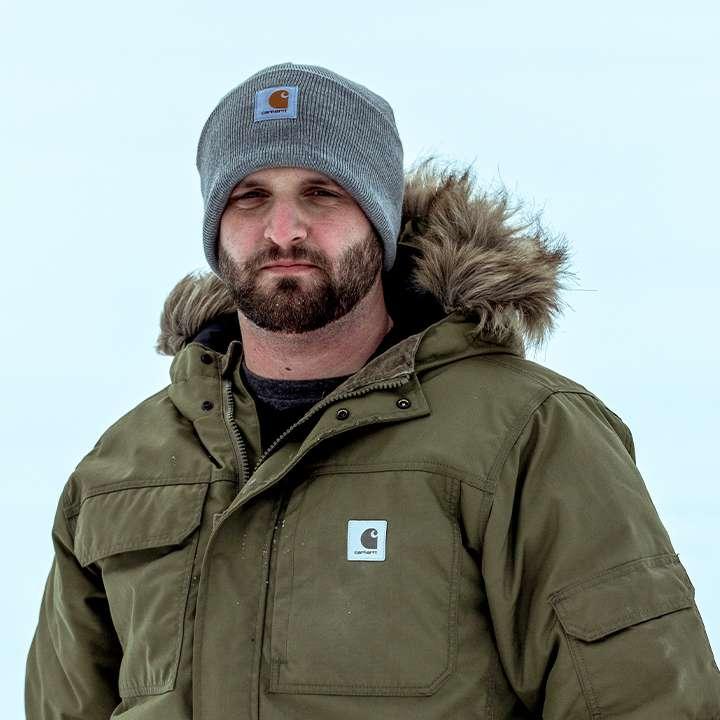portrait of snowmobiler