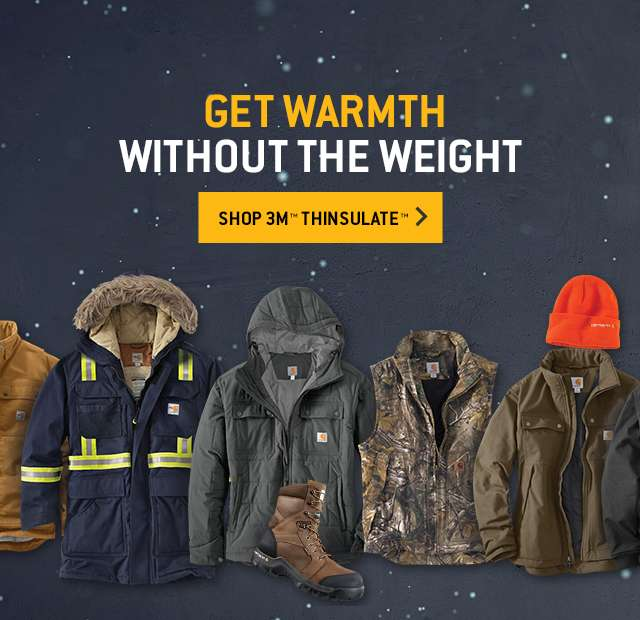 get warmth, give warmth without the weight. shop 3m thinsulate