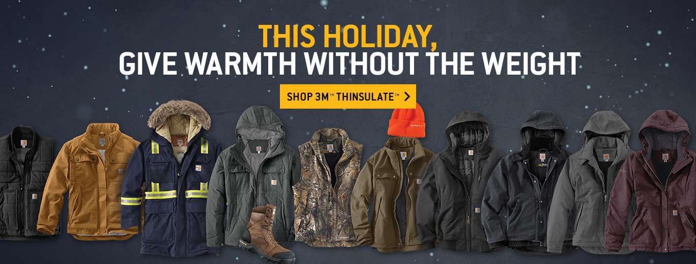 this holiday, give warmth without the weight. shop 3m thinsulate