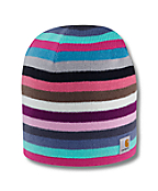 Women's Striped Knit Hat/Fleece Lined
