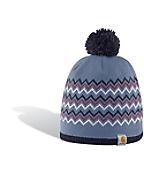 Women's Pom Pom Zig Zag Hat