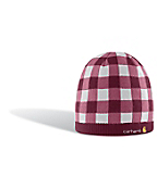 Women's Plaid Knit Hat