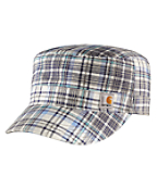 Women's Plaid Military Cap