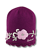 Women's Scalloped-Edge Knit Hat