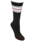Women's Fair Isle Pattern Wool Blend Boot Sock