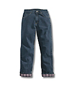 Women's Relaxed Fit Jean- Straight Leg/Flannel-Lined