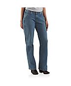 Women's Relaxed-Fit Single-Knee Carpenter Jean