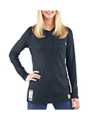 Women's Flame-Resistant Long-Sleeve Henley