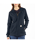 Women's Flame-Resistant Zip-Front Hooded Sweatshirt
