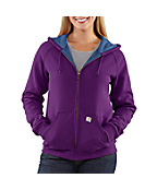 Women's Thermal-Lined Zip-Front Hooded Sweatshirt